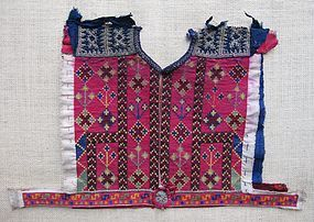 A child's embroidered dress yoke - Ghazni, Afghanistan
