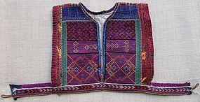 A child's embroidered waistcoat - Pashtun Mangal