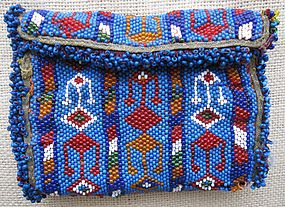 An Uzbek beaded purse from Afghanistan