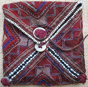 An embroidered kohl pouch from Indus Kohistan