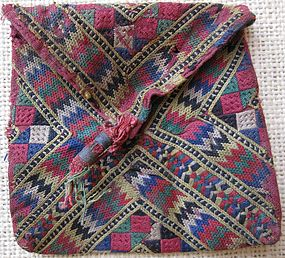 An embroidered purse from Baluchistan - circa 1960