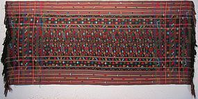 A vintage handwoven textile from Bhutan