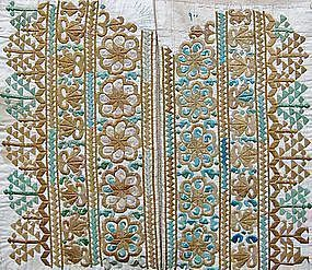 A man's embroidered shirt panel from Kandahar