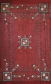 A man's wedding shawl from Sindh, Pakistan