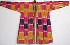 A vintage silk ikat-dyed robe from northern Afghanistan