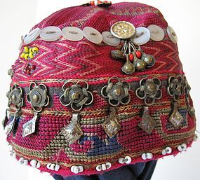 A small girl's cap from Indus Kohistan, Pakistan