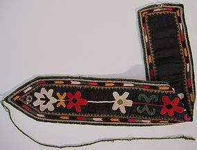 An Uzbek puttee, mid 20th century