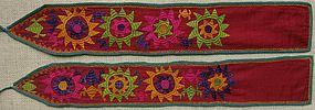 A pair of Uzbek puttees, late 20th century