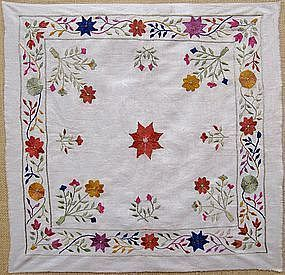 A Pashtun embroidered napkin from southern Afghanistan