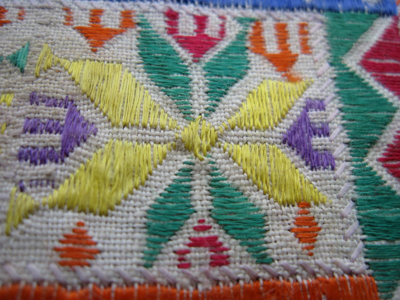 An embroidered Hazara textile from central Afghanistan