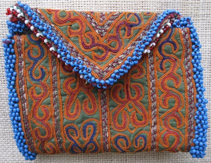 A vintage beaded purse from Afghanistan - Pashtun