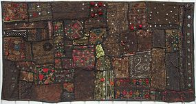 An old patchwork quilt from Sindh province, Pakistan