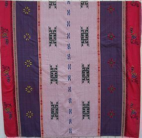 A king size hand-embroidered duvet cover from Nepal