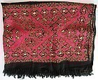 A hand-embroidered wool shawl from Hazara region