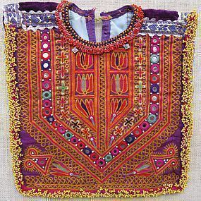 A child's mirrored shirt front from Afghanistan