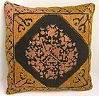 A silk embroidered cushion cover from Swat Valley