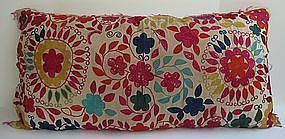 An Uzbek hand-embroidered cushion cover
