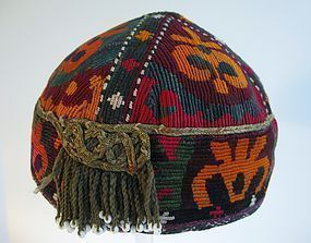 A child's embroidered cap from northern Afghanistan