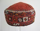 A vintage Turkman child's cap from northern Afghanistan