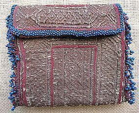 A hand-embroidered Pashtun purse from Afghanistan