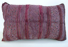 A vintage Hmong textile cushion cover
