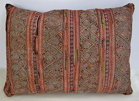 A vintage Hmong embroidered cushion cover