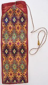 A vintage Hazara puttee in silk thread