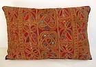 An Afghan Kuchi embroidered cushion