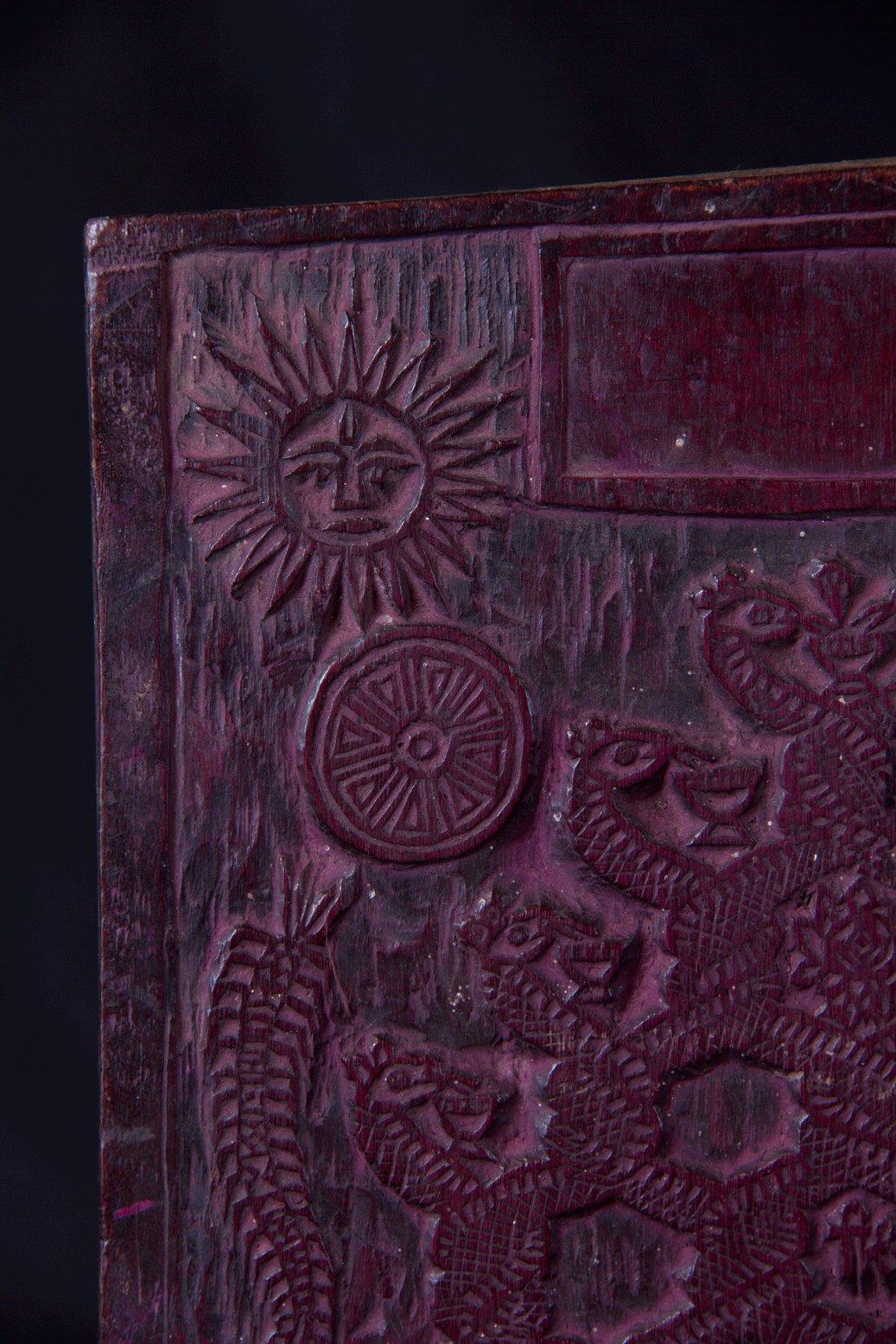 Wooden printing block, Nepal,Himalaya