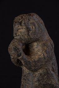 Protector stone figure, Nepal, Himalaya