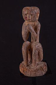 Old Figure in the namaste position, Nepal, Himalaya