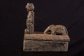 Old ceremonial salt box, nepal himalaya