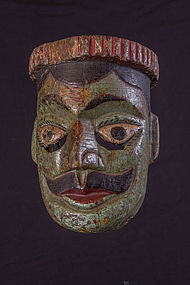 very old ramayana mask, India, Nepal, Himalaya