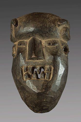 Primitive mask of  a demon , Nepal, Himalaya