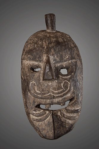 Powerful archaic mask from North west Nepal, Himalaya