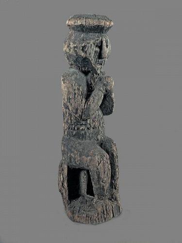 Sitting protector, Himalayan primitive figure n°70, Nepal