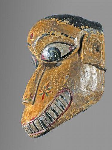 Monkey mask from Ramayana Theater, India , Nepal, Himalaya