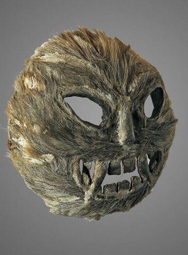 Unusual vegetal mask from Himachal Praddesh, Himalaya, India