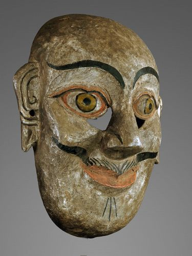 A pair of Buddhist mask, Himalaya, tibet, Nepal