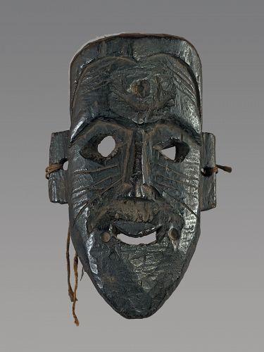 Archaic mompa mask , Himalaya, Nepal, India