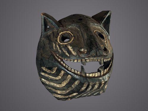 Animalist mask showing a Tiger, Southern Nepal, Himalayas