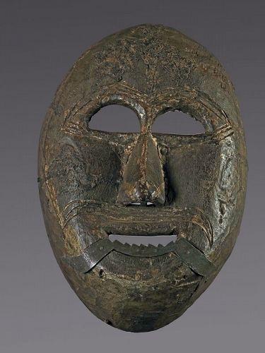 Mask with metal teeth, Himalaya, Nepal