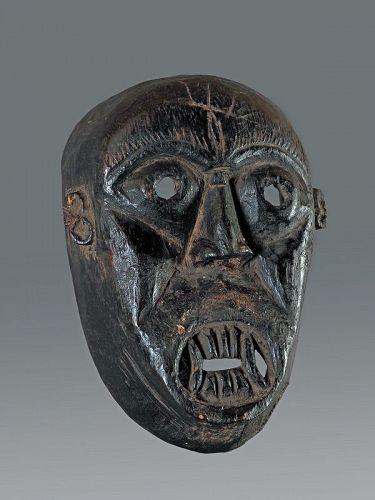 Demon Black patina mask, Nepal, Himalaya