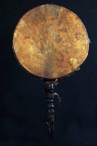 Old shamanic drum, Dhyangro N°3 , Himalaya, Nepal