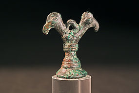 "Persian ""Luristan"" Bronze Seal with Bird Head, 800 BC"