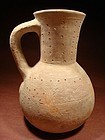 Canaanite Decorated Terracotta Jug, 3000-2000 BC