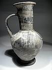 """Cypriot Terracotta Jar """"Bilbil"""", ca. 1400 BC."""
