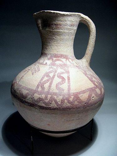 Late Bronze Age Terracotta Jug Monochrome, ca. 1400 BC.