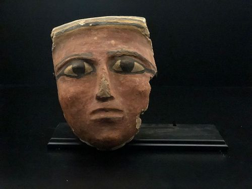 Egyptian polychrome mask, late period 722-332 BC
