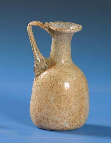 Roman Glass Jar, 200-400 AD.